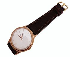 Vintage IWC 18k Rose Gold Mechanical Mens Watch