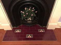 The Olde English range of fireplace hearth tiles combines tessellated patterns, classic vitrified mosaics and vividly coloured plain gloss tiles to create a beautiful heritage look. Fireplace Hearth Tiles, Mosaic, English, English Language, Mosaics, Mosaic Art
