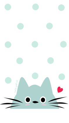 Descargable / Freebie: Fondo de Pantalla móvil de gato (mint)