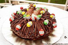 Nid de Pâques, pastel de chocolate de Pascua