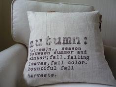 Fall Pillow Rustic Decor Autumn Fall Cotton Throw by shannspishak,