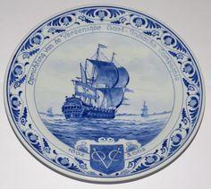Porceleyne Fles - Wandbord 400 jaar VOC.