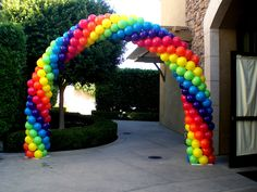 Another kind of balloon arch. Going to ask hubby how difficult the frame would be to make.