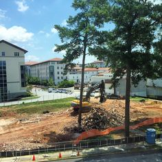 The new view of campus from Few, minus (most of) McTyeire. #Emory #McTyeireMemories ☀️