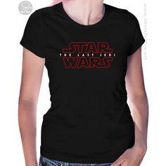 Star Wars The Last Jedi Womens T-Shirt T Shirts Uk, T Shirts For Women, Star Wars Prints, Star Wars Poster, Star Wars Tshirt, Last Jedi, Stars, Fashion, Moda