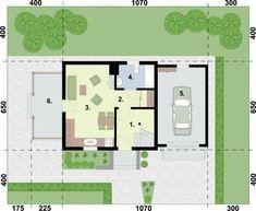RZUT PARTERU ORLEAN 5 dom letniskowy z poddaszem House Plans, Floor Plans, How To Plan, Architecture, House 2, Homes, Arquitetura, House Plans Design, House Floor Plans