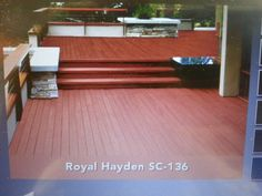 Back deck stain color