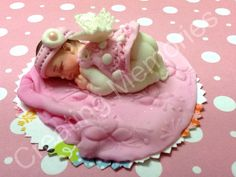 Fondant Baby Girl with Wings Cake Topper by anafeke on Etsy, $15.00