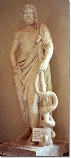 Statue of Asklepios, Epidauros Museum, Greece