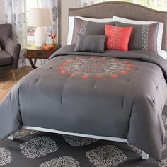 Catalina 5 Piece Embroidered Comforter Set by Better Homes and Gardens - CNA-5CS-FUQU-WD-OI
