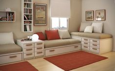 small space with creative storage design