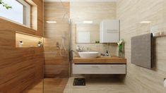 Návrh a 3D vizualizácia kúpeľne Alcove, Bathtub, Vanity, House Design, Bathroom, Home Decor, Houses, Standing Bath, Dressing Tables