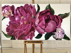 Commission Source by . Acrylic Painting Flowers, Oil Painting Flowers, Watercolor Flowers, Flower Canvas Art, Flower Art, Wall Painting Decor, Oil Pastel Art, Floral Artwork, Creations