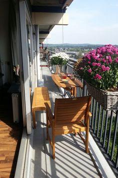 Optie voor een klein balkon