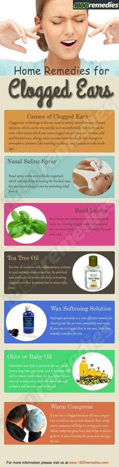 Home Remedies For Clogged Ears