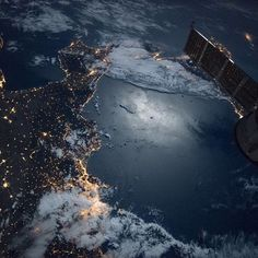 Ciao! This nighttime view showing the southern tip of Italy was captured by the crew aboard the International Space Station on Sept. 17.  The brightly lit city of Naples can be seen in the bottom section of the image and a Russian Soyuz spacecraft can be seen in the foreground.  Credit: NASA  #nasa #space #italy #internationalspacestation #spacestation #orbit #night #naples
