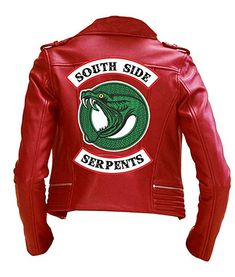 The Sparks Up Inc. Riverdale Costume Southside Serpents Embroidered Back Red Faux Leather Jacket Cheryl Blossom Riverdale, Riverdale Cheryl, Blossom Costumes, Riverdale Merch, Riverdale Fashion, Jackets For Women, Clothes For Women, Teen Fashion Outfits, Bff