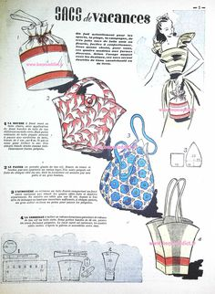 How to Make a Hobo Bag - Sewing Method Sewing Lessons, Sewing Blogs, Sewing Hacks, Sewing Projects, Sewing Ideas, Vintage Bags, Vintage Handbags, Journal Vintage, Patron Vintage