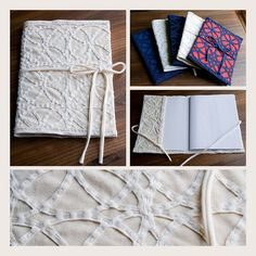 Hand made notebook covers by dupcodeb