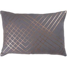 Crescendo Pillow Cover - Pewter Home Accessories at Art.com