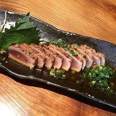 #raw #tuna #tataki #Japanese #dinner #appetizer by dxiaoshuang