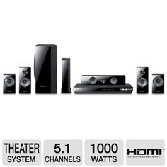 Samsung HT-E5500W HTIB 5.1 Channel 3D Blu-ray 1000-Watt Home Theater System Best Price with Free Shipping !!! Only $467.99
