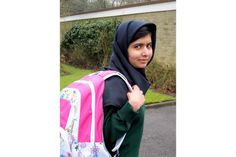 Go Malala! First Day Back at School.