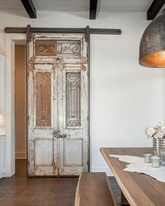 An Antique Door with a Sturdy Metal Construction