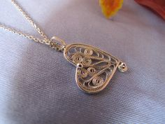 Sterling Silver (925), Handmade, Necklace, Filigree, Heart, Unique, Mother's Day. by leylaks on Etsy https://www.etsy.com/listing/224511674/sterling-silver-925-handmade-necklace