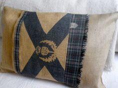 hand printed rustic hessian st andrews flag by helkatdesign