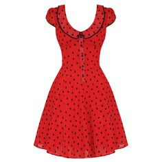 VOODOO VIXEN LADIES RED FLORAL SPOTTY VINTAGE PARTY TEA DRESS £34
