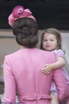 Kate Middleton Princess Charlotte Pink Dresses Trooping Colour