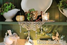 Creative Country Mom's: Starting To Add Fall Touches in my Cottage Kitchen