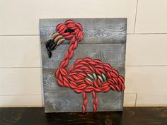 Excited to share this item from my shop: Handmade Rustic Bottle Cap Flamingo Sign Wall Art Decor, Farmhouse Decor Diy Bottle Cap Crafts, Beer Cap Crafts, Bottle Cap Projects, Beer Cap Art, Beer Bottle Caps, Beer Caps, Bottle Top Art, Pink Bottle, Diy Projects For Bedroom