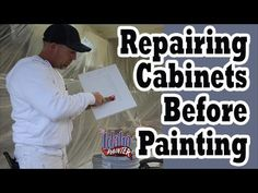 Using Bondo Glazing Putty For Nicks & Dings in Cabinets & Trim - YouTube