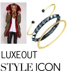Luxeout Jewelry #fashion #fur #beauty #bracelets #accessories #trends #blogger #yellowgold #spikes #studs