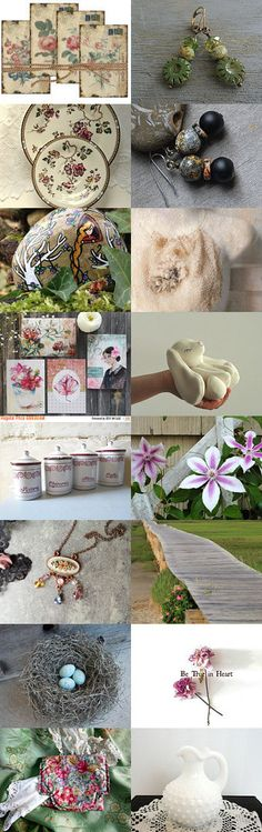 Simply ༺♥༻ Two for Tuesday ༺♥༻ by Julie Sumerta on Etsy--Pinned+with+TreasuryPin.com Boho Chic, Shabby Chic, Tuesday, Artisan, Table Decorations, Collages, Creative, Etsy, Design