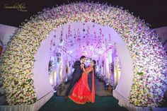 Wedding decor Indian wedding decoration ideas & trends 2019 we always latest decide our marriage decoration according to the venue which theme and style. Wedding Hall Decorations, Wedding Reception Backdrop, Marriage Decoration, Wedding Entrance, Wedding Mandap, Wedding Venues, Wedding Walkway, Arch Wedding, Wedding Catering