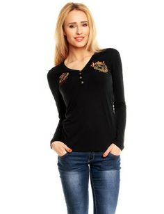Red Bridge blusa bordados | Black