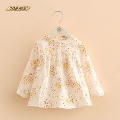 Cheap girls blouse, Buy Quality baby girl blouse directly from China blouse children Suppliers: Girls Floral Shirt Printed Flower Long Sleeve Baby Girl Blouses European Style Leisure White Blouse Children Clothing Girls Tunics, Girls Blouse, Baby Dress Design, Frock Design, Dress Anak, Baby Frocks Designs, Frocks For Girls, European Fashion, European Style