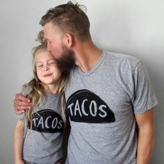 Fathers Day Gift : Taco Tuesday Matching Tshirts, dad tshirt, taco shirts gifts for dad from daughter, son father daddy and me child outfit