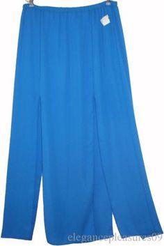 3X 2X DOUBLE SLIT MAXI SKIRT~royal blue~LONG~split~ELASTIC~club & TORRID RING