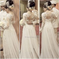 #wedding #weddingdress #bride #backdetails #pengantin #verakebaya ❤️❤️ - verakebaya @ Instagram