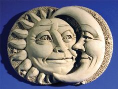 Hand Cast Stone Mini Celestial Attraction, Sun Moon - Sunshine & Moon Beams Plaque - Collectible Concrete Sculpture by Creative Structures. $22.45. Hand Cast Stone, Weatherproof & Waterproof, Handfinished With A Patina Wash To Accentuate The Details. A Copper Hook Is Embedded In The Back For Hanging Or Display It On An Easel For A Beautiful Tabletop Display - Great Piece For A Child's Room As Well. Extremely Innovative Creations That Breathe Life And Bring Joy And Whims...