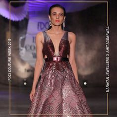 """Narayan Jewellers delightfully launched the new bridal collection in association with ace Designer Amit Aggarwal for """"Lumen"""" Couture 2019 at FDCI. Bridal Collection, Fashion Show, Runway, Product Launch, Jewels, Couture, Formal Dresses, Design, Cat Walk"""