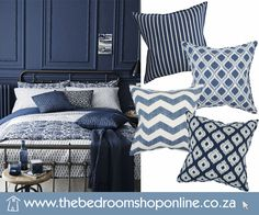 Scatter Cushions, Beautiful Bedrooms, Shades Of Blue, Your Space, Comforters, Coastal, Colours, Bright, Bath