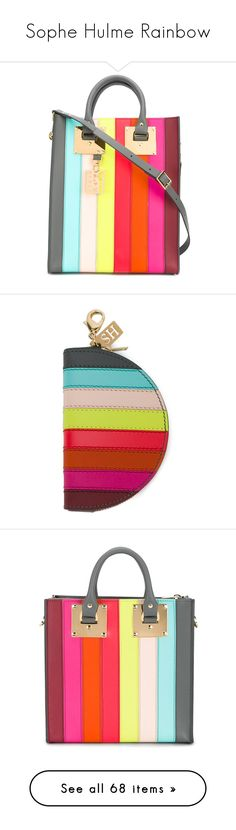 """""""Sophe Hulme Rainbow"""" by haikuandkysses on Polyvore featuring bags, handbags, tote bags, multicolor, leather totes, leather handbag tote, genuine leather tote bags, colorful tote bags, genuine leather handbags and wallets"""