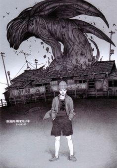 "Monster Rising from ""Japanese Comickers 2"" artbook by Tatsuyuki Tanaka"