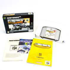 F-1 World Grand Prix for Nintendo 64,  N64,  PAL, 1998, Boxed, VGC, CIB