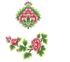 Botanical Flowers, Botanical Art, Art Nouveau Tattoo, Stencil Painting On Walls, Indian Flowers, Flower Meanings, Fashion Design Drawings, Islamic Art, Pattern Art